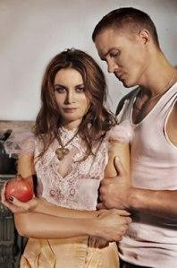 Katerina (Alice Parkinson) and Sergei (Conrad Coleby)